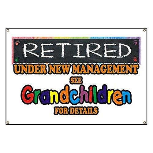 - CafePress Retired Under New Management Vinyl Banner, 44