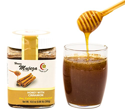 All Natural Honey (Honey with Ceylon Cinnamon Unheated Unfiltered Unprocessed 100% Natural Raw Honey comes in a Glass Jar (300g/10.6 oz.))