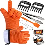 interesting patio gardens design ideas Markmesafe Silicone BBQ Gloves/Cooking Gloves Grilling Tool Accessories Set 6 Pcs - Heat Resistant Gloves, Meat Shredder Claws,Grill Brush,Barbecue Tongs,Free Recipes eBooks, L/XL