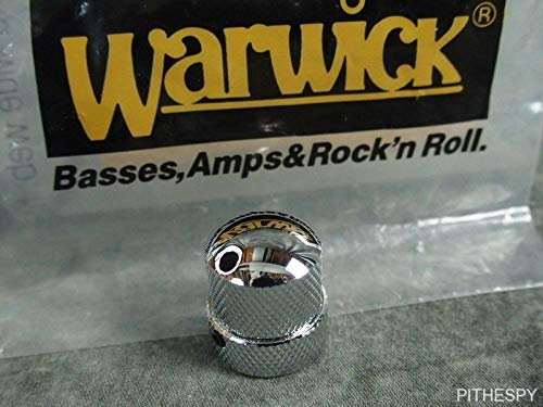 (Warwick Chrome Knob For Stacked Pots Tone Volume Thumb Streamer Bass Parts)