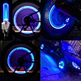 Bike Wheel Light Car Motorcycle Tire Valve Lights- Blue Neon LED 100% Waterproof Motion Activated Bike Wheel Lights- ( 2 pack) batteries not included