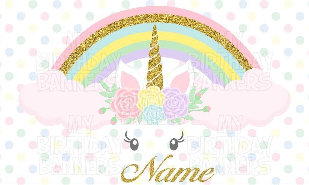 Unicorns Birthday Party Banner Personalized//Custom Decoration