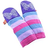 mimiTENS All Weather Long Sleeve Warm Winter Mittens (Purple Silver Butterfly) by mimiTENS
