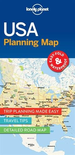 Lonely Planet USA Planning Map (Travel Guide)
