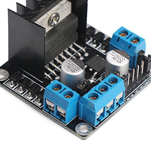 Drok l298n motor drive controller board dc dual h bridge Arduino motor control board