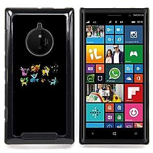 Queen Pattern - FOR Nokia Lumia 830 - Pekemon Team - Cubierta del caso de impacto con el patr???¡¯???€????€?????n Art Designs
