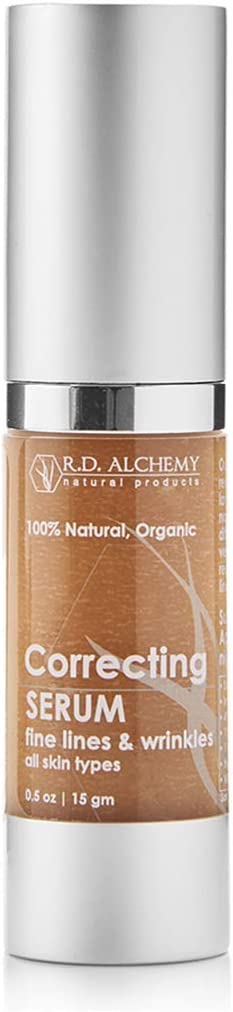 100% Natural & Organic Wrinkle Correcting Serum. Best Anti Aging Product - Great for Treatment of Crow's Feet Around Eyes & Wrinkles on Face. Collagen Boosting Under Eye Wrinkle Reducer.