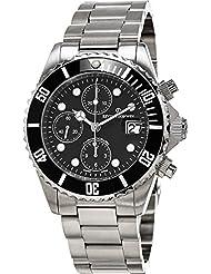 Revue Thommen Diver Automatic Watch - Black Dial Chronograph Date Revue Thommen Watch Mens - Stainless Steel Bracelet...