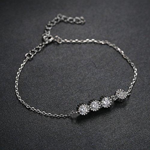 JewelryPalace Originale Monde Bracelet Fleur Femme Filles en Argent Sterling 925 en Zircon Cubique de Synthèse CZ