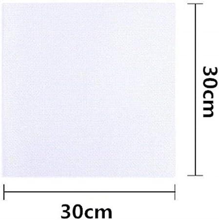 Tela de punto de cruz de algodón 11CT Paquete de material de tela Aida 1 pieza de tela de bordado de punto de cruz 30x30cm 30x45cm, 30x30cm: Amazon.es: Hogar