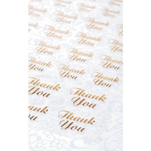 Clear Stickers 47/Pkg-Gold Thank - Victoria Hours Store Gardens