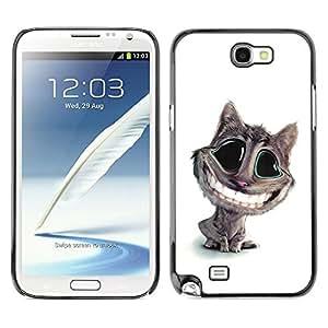 - WHITE FELINE CAT ART TEETH SMILE BIG - - Monedero pared Design Premium cuero del tir???¡¯???€????€?????n magn???¡¯&Ati
