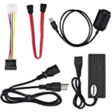 SATA/PATA/IDE Drive to USB 2.0 Adapter Converter Cable for 2.5 / 3.5 Inch Hard Drive / Optical Drive with External AC Power Adapter