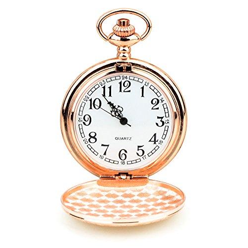 a94d8fc92a85 BestFire Pocket Watch Vintage Smooth Quartz Pocket Watch Classic Fob ...