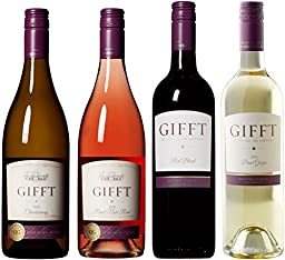 Gifft by Kathie Lee Gifford Gift of Monterey Wine Mixed Pack, 4 x 750 mL