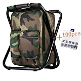 Bright starl Upgraded Version Large Size 3 in1 Multifunction Fishing Backpack Chair, Portable
