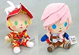 Set of 2: Square Enix Dissidia Final Fantasy All Stars Vol 2 Onion Knight and Lightning 6'' Plush Dolls