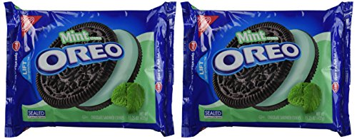 Oreo Chocolate & Cool Mint Creme Sandwich Cookies 15.25 Oz. (2 Pack)