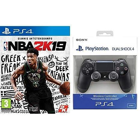 NBA 2K19 - Edición Estándar & Sony - Dualshock 4 V2 Mando ...
