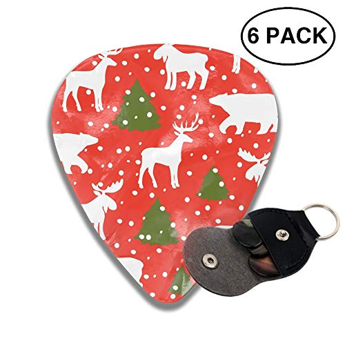 - Celluloid Guitar Picks 3D Printed Christmas Moose Best Guitar Bass Gift for Lover