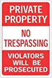 Hy-Ko Products HW-45HD Private Property No Trespassing Violators will be Prosecuted Heavy Duty Sign, 12