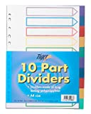 4x A4 Colour Coded 10 Part Strong Filing Subject Dividers Tabbed Ringbinder