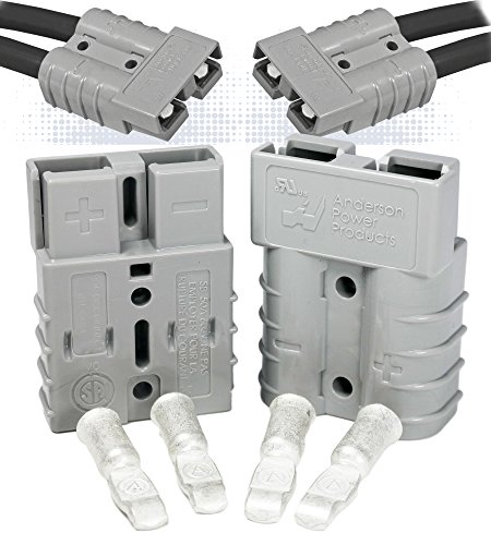 Pole Half (Anderson Power Products SB50 Connector Kit, 50 Amps, Gray Housing, w/10 12 AWG, 6319 (1 Pair))