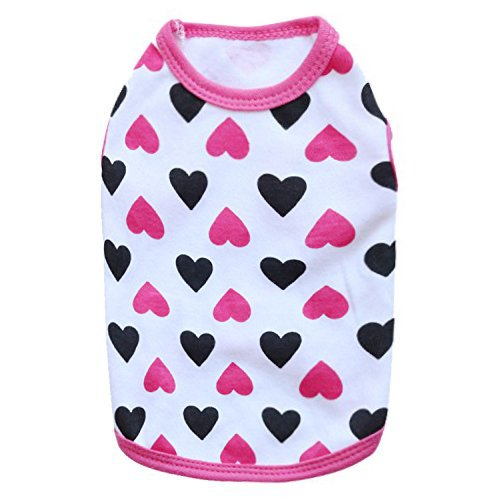 DroolingDog XS Dog Clothes XSmall Dog T Shirt Cat Shirts for Small Dogs, XS, Pink