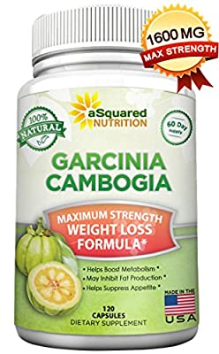 100% Pure Garcinia Cambogia Extract - 120 Capsules, Ultra High Strength HCA, Natural Weight Loss Diet Pills XT, Best Extreme Fat Burner Slim & Detox Max, Premium Blocker for Men & Women, FDA Approved