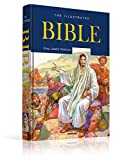 img - for Illustrated Bible-The Holy Bible King James Version-King James Bible-1735 Pages-16 Full Color Maps-Illustrated Bible Stories-Entire Family-600+Full ... John-Gold Leaf-Edges-Hardcover book / textbook / text book