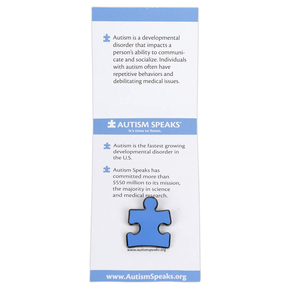 Autism Speaks Updates Their Mission >> Amazon Com Official Autism Speaks Puzzle Piece Awareness Pin Clothing