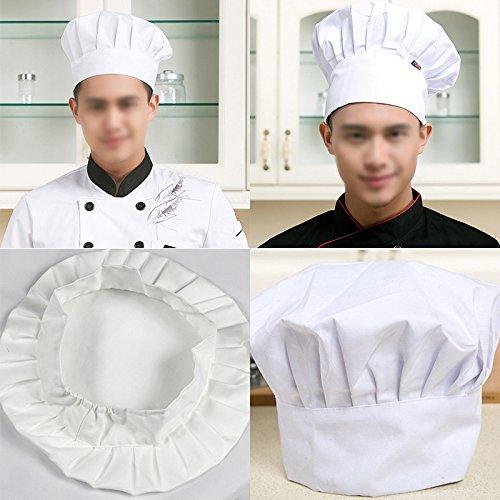 Gorro de chef de cocina de Bigboba de color blanco 567eff1d618
