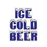 Ice Cold Beer Concession Restaurant Food Truck Die-Cut Vinyl Sticker 10 inches