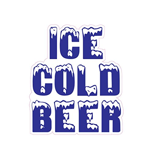 - Ice Cold Beer Concession Restaurant Food Truck Die-Cut Vinyl Sticker 10 inches