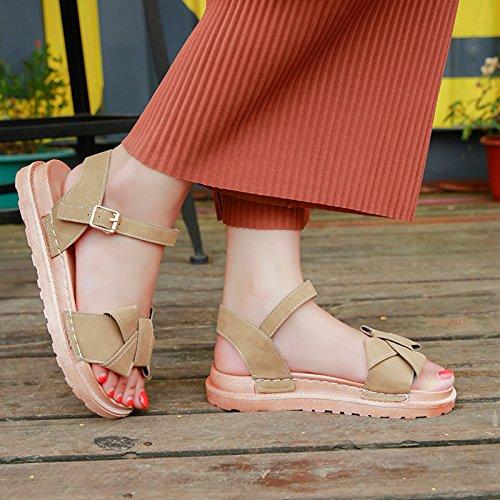 de Señoras Sandalias de Pajarita Dedos Playa YMFIE a Antideslizante Moda Confortable Verano Calzado SwfXAx1
