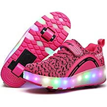 2017 adult Heelys LED light sneakers with wheel boy Girl roller skate casual shoe with roller girl