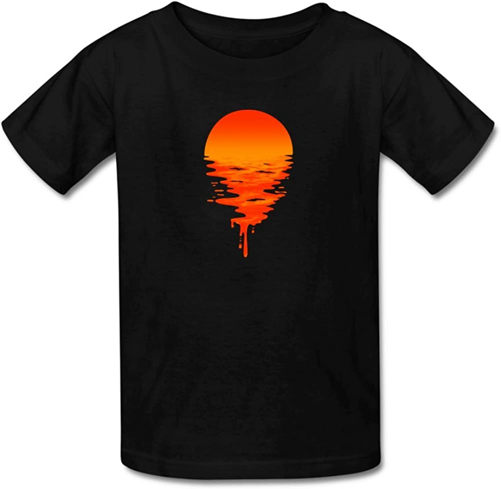 iCoup Kids Sunset 100/% Cotton O-Neck Tee Shirt for 4-11yr Old