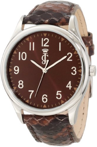 Couture Watch Brown Strap (Juicy Couture Women's 1900946 Darby Python Embossed Leather Strap)