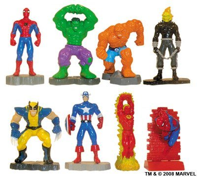 Marvel Super Hero Mini Figure Set - Set of 8