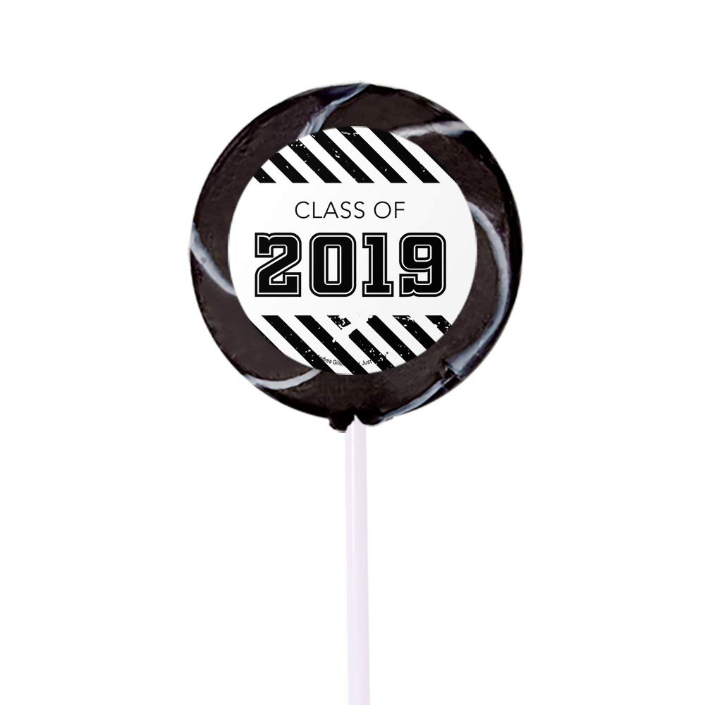 Black Graduation Candy Buffet Class of 2019 (Approx 14lbs) - Includes Hershey's Kisses, Dum Dums Lollipops, Buttermints, Gumballs and More by WH Candy (Image #3)