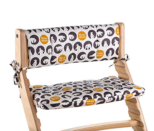 Chair Cushion for Heartwood Adjustable Chair with Polar Bear Pattern Set with Backrest and Seat Cover ()
