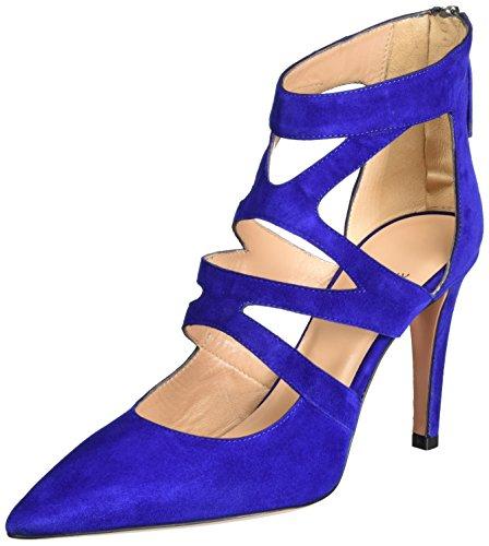 Blau biro Col Scarpe 12 Donna Tacco Oxitaly Sissi qFpx0xY
