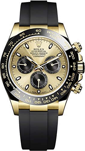 Rolex Cosmograph Daytona Yellow Gold and Ceramic Bezel Oysterflex 116518LN