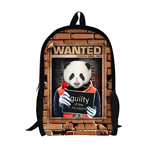 TOREEP Bad Boys Girls Creative Animal School Backpack Bookbag for (Olive Transparent Sunglasses)