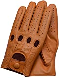 Riparo Genuine Leather Driving Gloves (Large, Tan)