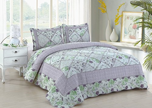 Lovely - 3 Piece King Quilt Bedding Set
