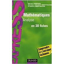 Mathématiques L1/L2: Analyse en 30 fiches (French Edition)
