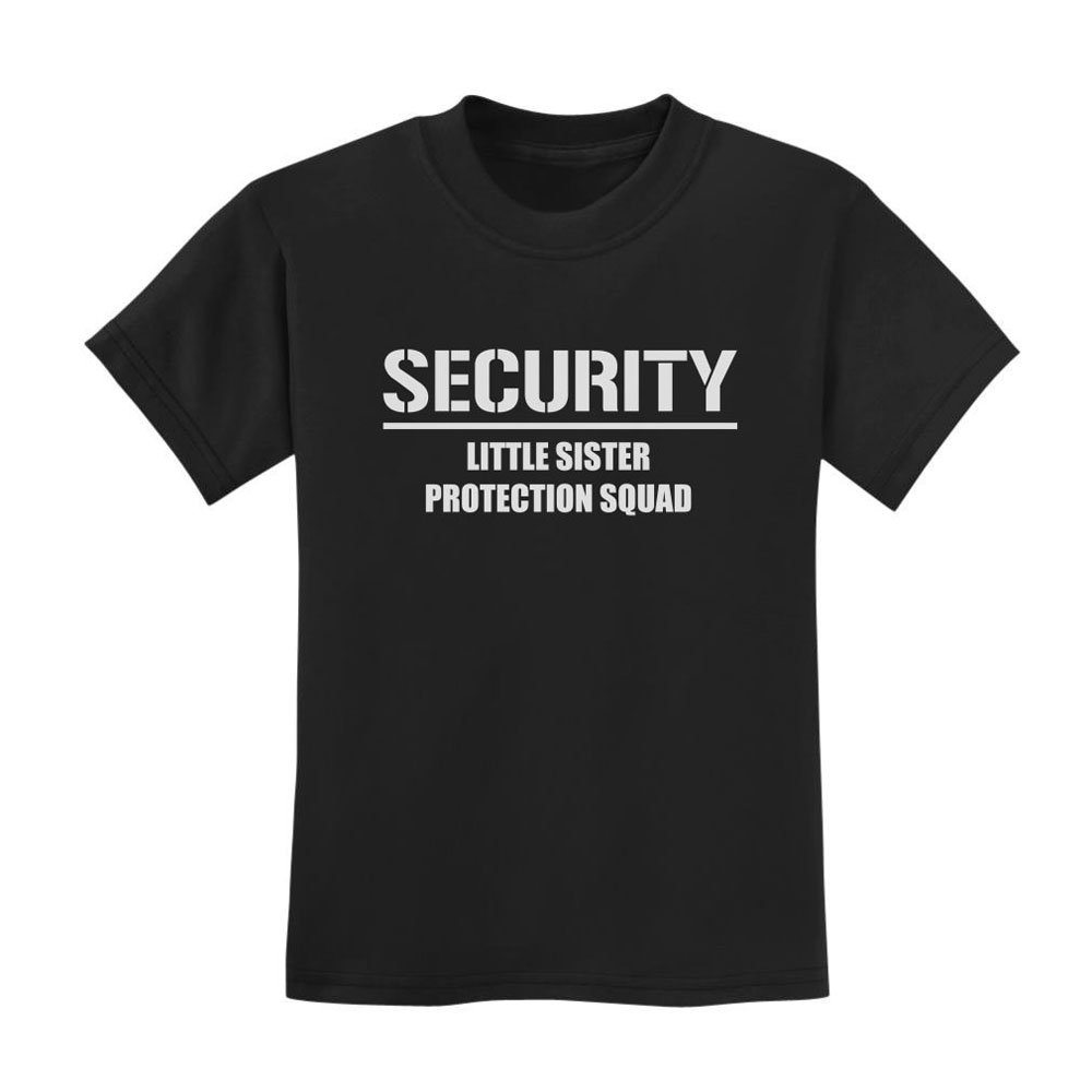 Loo Show Gift for Big Brother – Security For My Little Sister Kids T-shirt Black