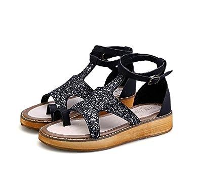 Flache Sohle Schuhe, große Schuhe, Lack, flache Unterseite, Student alleinige Schuhe, schwarz, 34