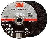 3M High Performance Depressed Center Grinding Wheel T27 Quick Change 66551, Ceramic, 7'' Diameter, 1/4'' Thick, 5/8''-11 Arbor, 36+ Grit, 8500 rpm (Case of 10)